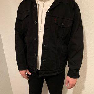 Men's Levi's Black Denim Jean Jacket - size XXLT